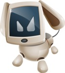 Cute Robot Pet Cartoon Character AKA MADIO The Puppy - Angry