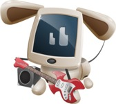 Cute Robot Pet Cartoon Character AKA MADIO The Puppy - Music