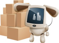Cute Robot Pet Cartoon Character AKA MADIO The Puppy - Delivery 2