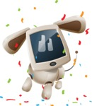 Cute Robot Pet Cartoon Character AKA MADIO The Puppy - Celebrate