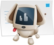 Cute Robot Pet Cartoon Character AKA MADIO The Puppy - Mail