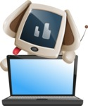 Cute Robot Pet Cartoon Character AKA MADIO The Puppy - Laptop