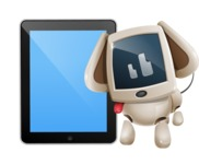Cute Robot Pet Cartoon Character AKA MADIO The Puppy - iPad 1