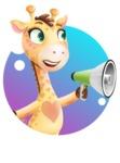 Baby Giraffe Cartoon Vector Character - Shape 2