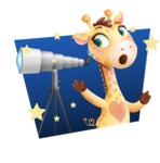 Baby Giraffe Cartoon Vector Character - Shape 4