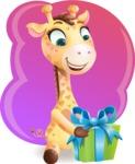 Baby Giraffe Cartoon Vector Character - Shape 5