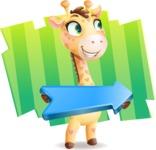 Baby Giraffe Cartoon Vector Character - Shape 8