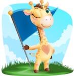 Baby Giraffe Cartoon Vector Character - Shape 9