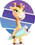 Baby Giraffe Cartoon Vector Character - Shape 10