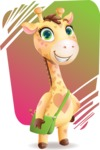 Baby Giraffe Cartoon Vector Character - Shape 11