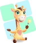 Baby Giraffe Cartoon Vector Character - Shape 12
