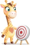 Baby Giraffe Cartoon Vector Character - with Target