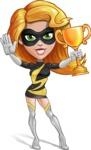 Attractive Superhero Girl Cartoon Vector Character AKA Jess Thunderstorm - Winner