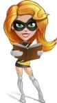 Attractive Superhero Girl Cartoon Vector Character AKA Jess Thunderstorm - Book