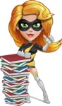 Attractive Superhero Girl Cartoon Vector Character AKA Jess Thunderstorm - Books 1