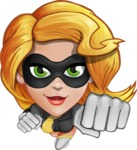Attractive Superhero Girl Cartoon Vector Character AKA Jess Thunderstorm - Fly 1