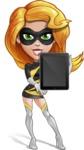 Attractive Superhero Girl Cartoon Vector Character AKA Jess Thunderstorm - Tablet 2