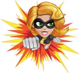 Attractive Superhero Girl Cartoon Vector Character AKA Jess Thunderstorm - Shape 3