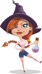 Beautiful Witch Girl Cartoon Vector Character - Holding Potion