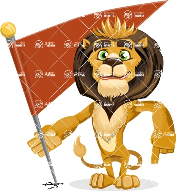 animal lion vector cartoon character pack of poses - Checkpoint