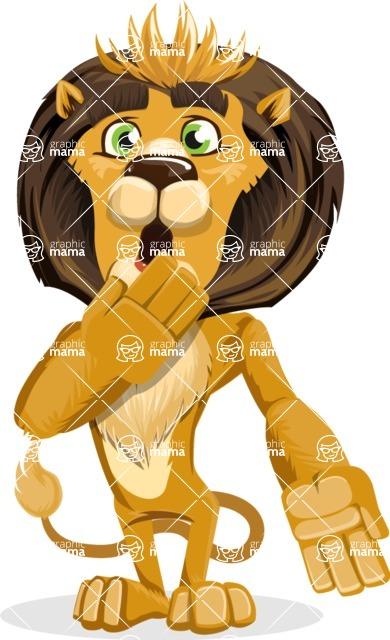 Lion Cartoon Vector Character - Oops