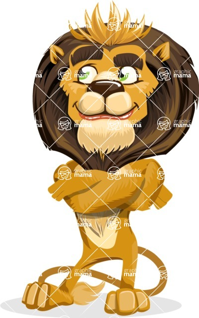 animal lion vector cartoon character pack of poses - Petient