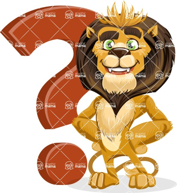 animal lion vector cartoon character pack of poses - Question