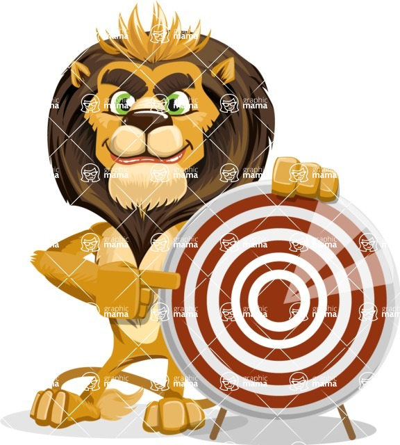 animal lion vector cartoon character pack of poses - Target