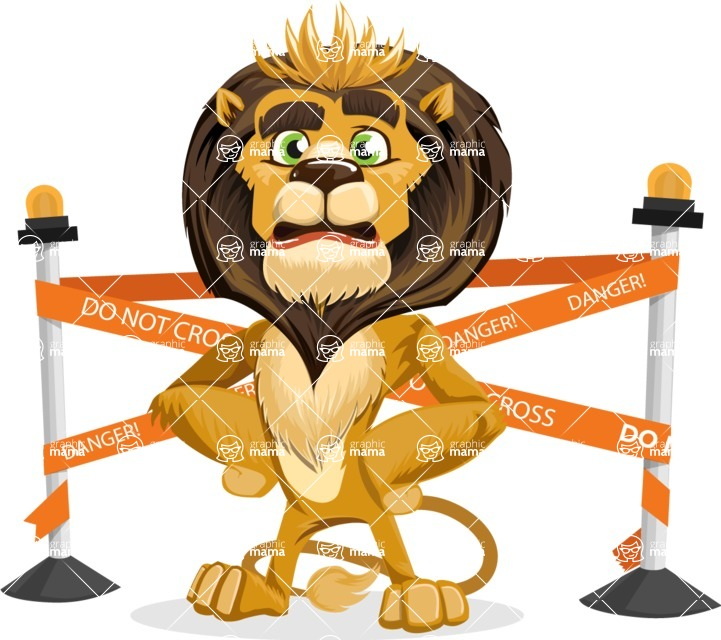 animal lion vector cartoon character pack of poses - Under Construction 2