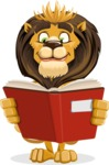 Lion Cartoon Vector Character - Book 1