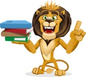 Lion Cartoon Vector Character - Book 2