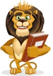 Lion Cartoon Vector Character - Book 3