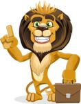 Lion Cartoon Vector Character - Briefcase 2