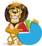 animal lion vector cartoon character pack of poses - Chart