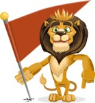 Lion Cartoon Vector Character - Checkpoint