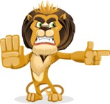 Lion Cartoon Vector Character - Direct Attention 2