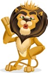 animal lion vector cartoon character pack of poses - Duckface
