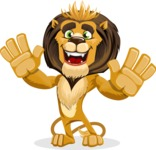 Lion Cartoon Vector Character - Hello