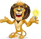 animal lion vector cartoon character pack of poses - Idea 1