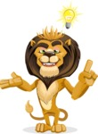 Lion Cartoon Vector Character - Idea 2