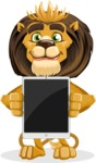 animal lion vector cartoon character pack of poses - iPad 1