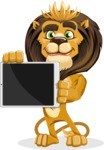 animal lion vector cartoon character pack of poses - iPad 2