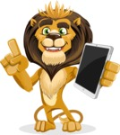 animal lion vector cartoon character pack of poses - iPad 3