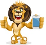 Lion Cartoon Vector Character - iPhone