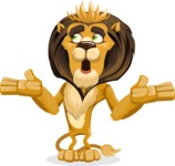 Lion Cartoon Vector Character - Lost