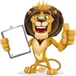 animal lion vector cartoon character pack of poses - Notepad 1