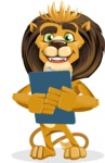 animal lion vector cartoon character pack of poses - Notepad 2
