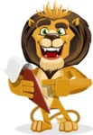 Lion Cartoon Vector Character - Notepad 3