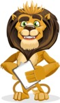 animal lion vector cartoon character pack of poses - Notepad 4