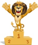 Lion Cartoon Vector Character - On Top
